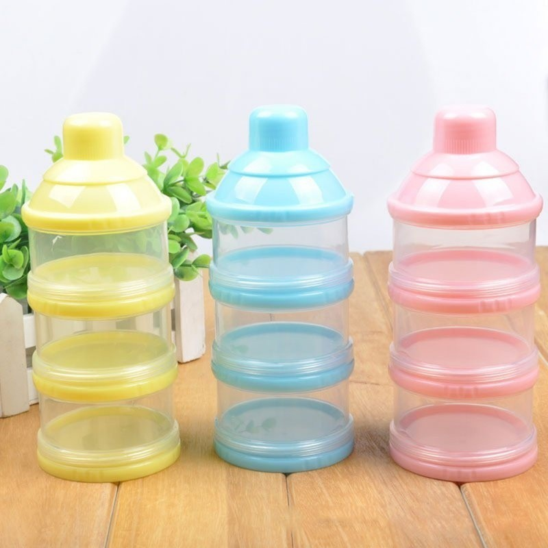 4 Layers Case Feeding Container Food Baby Milk Dispenser Powder Formula Box