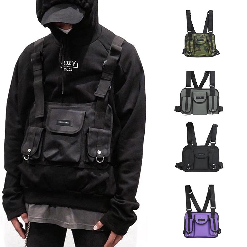 Vest Nylon Chest Drill Bag Hip Hop