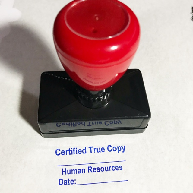 Certified True Copy Stamp Customized Pre Inked Red Handle