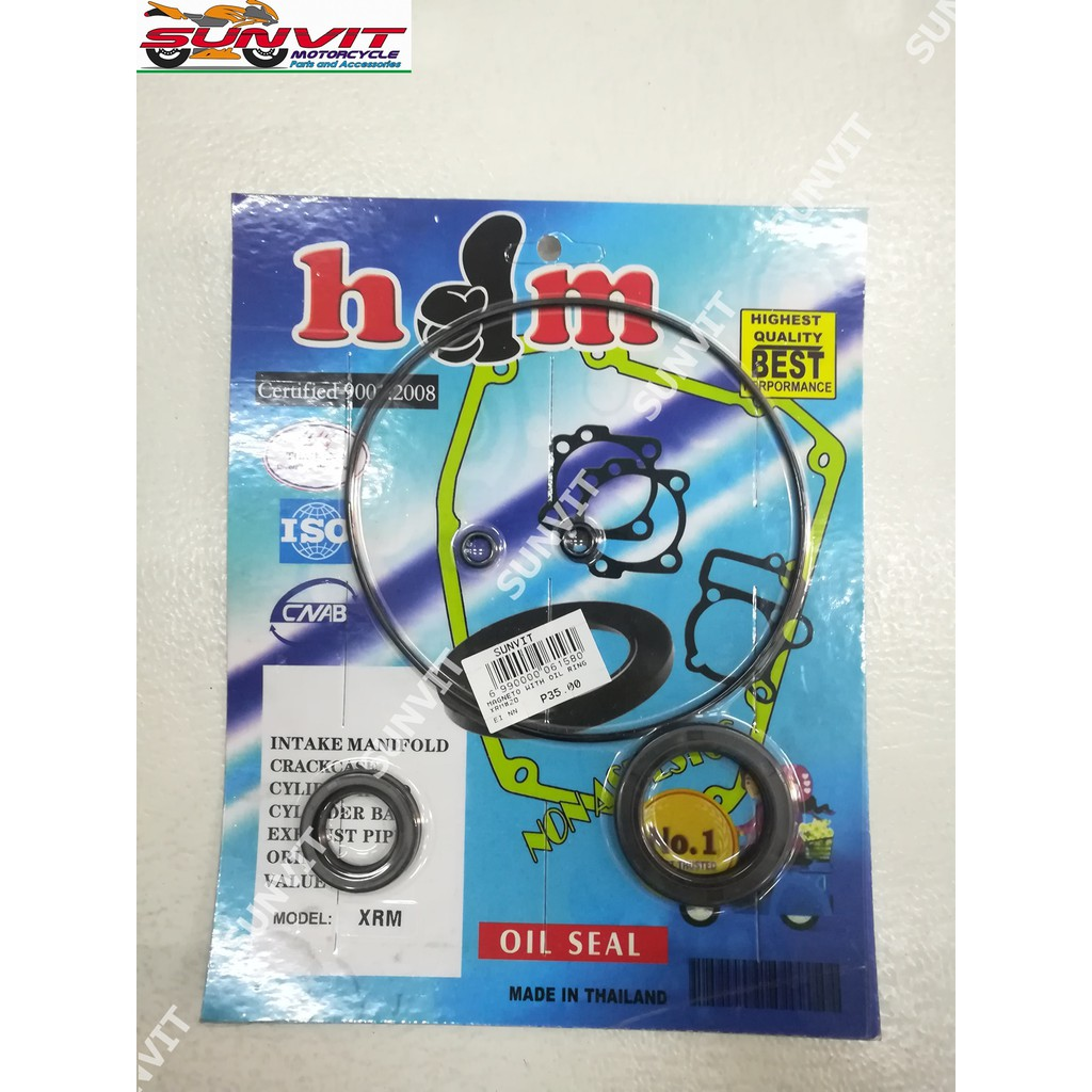 OIL SEAL KIT HDM MAGNET WITH OIL RING XRM