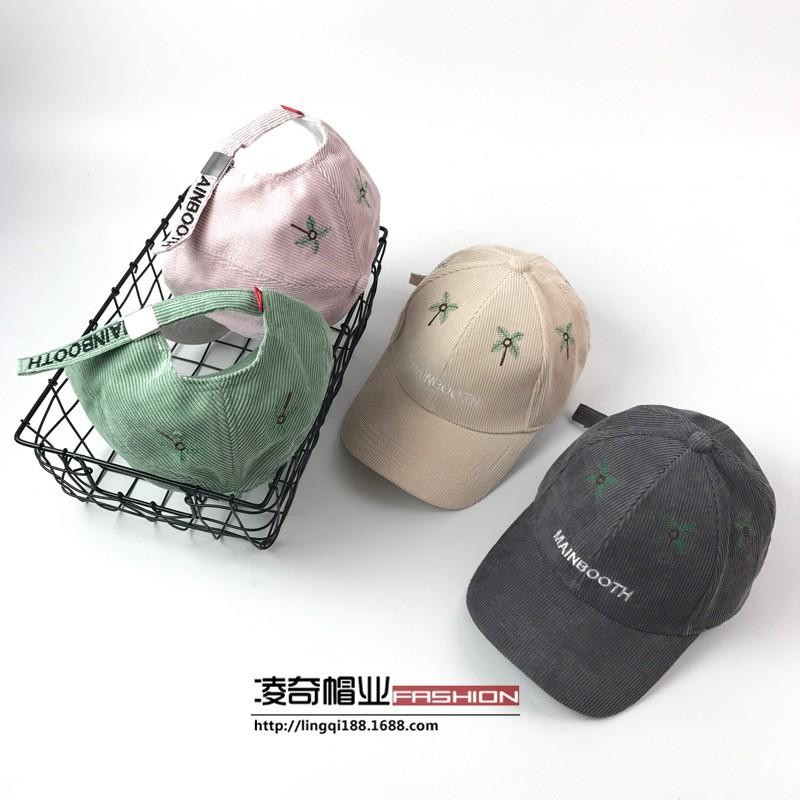 7ec586f557aa50 Korean version of the corduroy alphabet baseball hat lovers | Shopee  Philippines