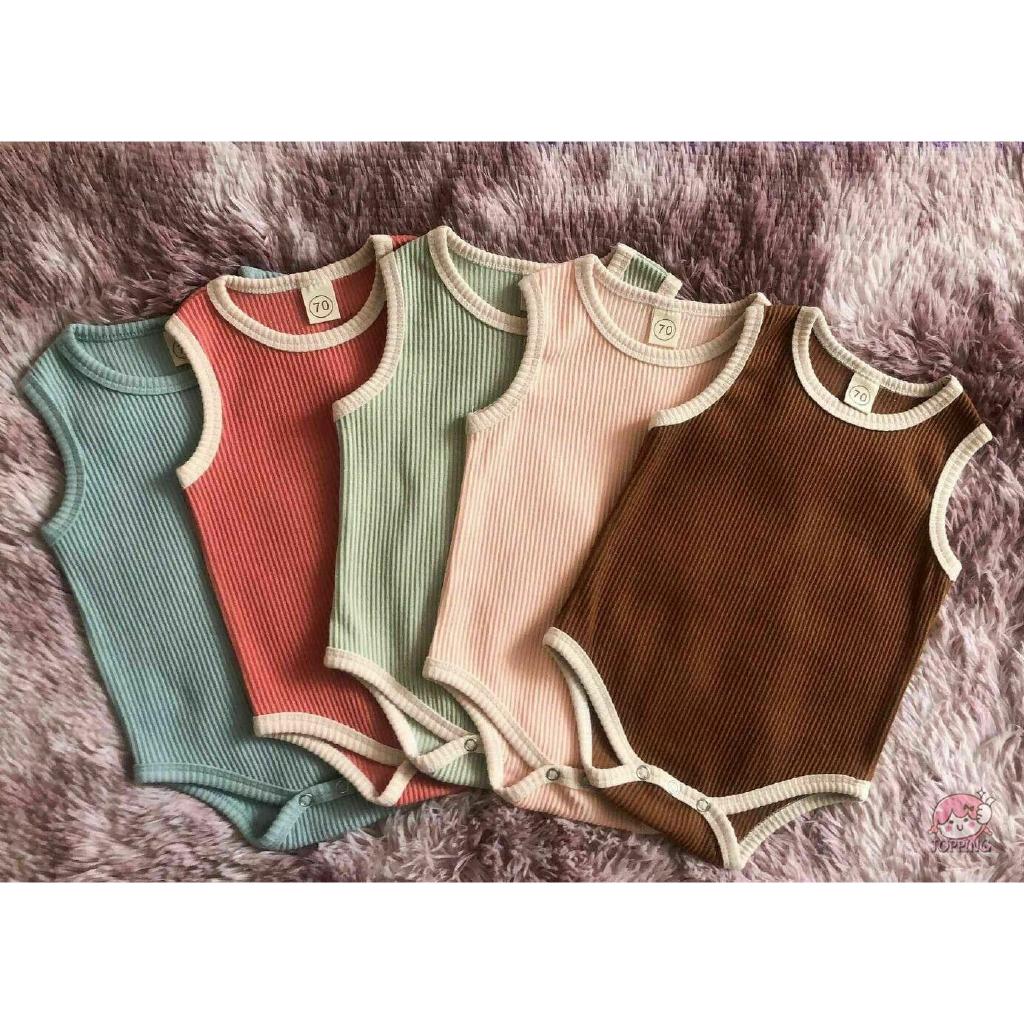 Newborn Baby Boy Girl Letter Cotton Romper Bodysuit Jumpsuit Clothes Outfit Vest
