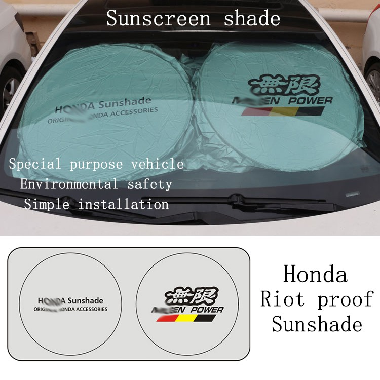 Sun Blocker For Car >> Honda Sun Shade Foldable Car Windshield Sunshade Sun Protect