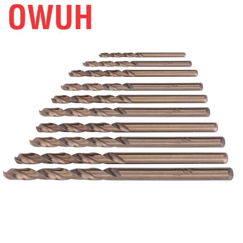 6.0//6.5//7.0//7.5mm 10pcs Straight Shank Twist Drill Bits HSS Stainless Steel Iron Plate Drilling Drill Bits 6.5mm HSS Twist Drill Bits