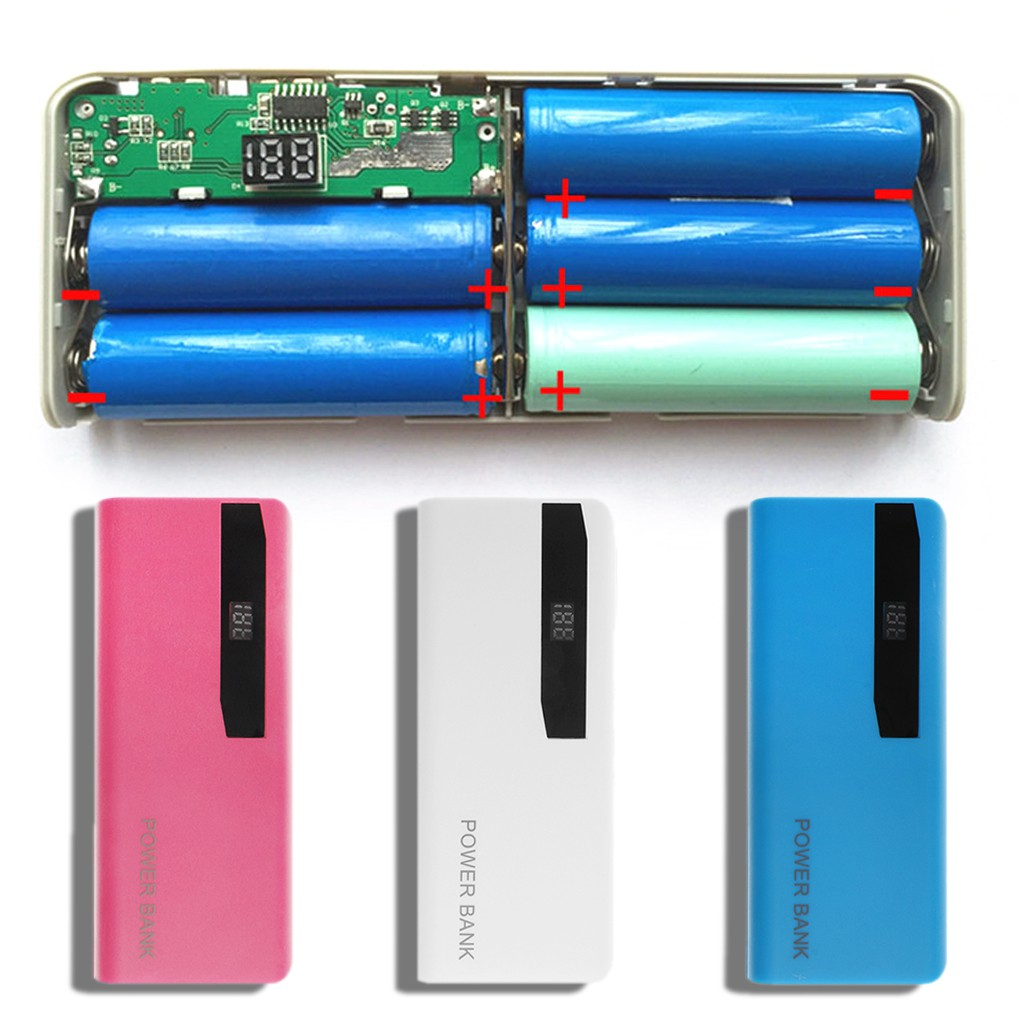 5x 18650 Battery Charger Lcd Display