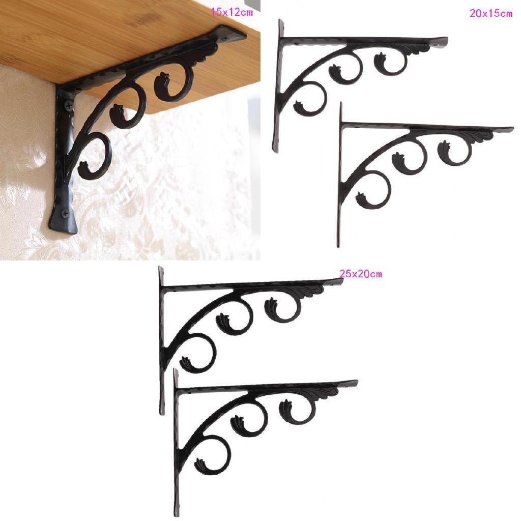 2pcs Wall Hanging Heavy Duty Shelf Bracket for Home Store Bar Hotel 25x20cm