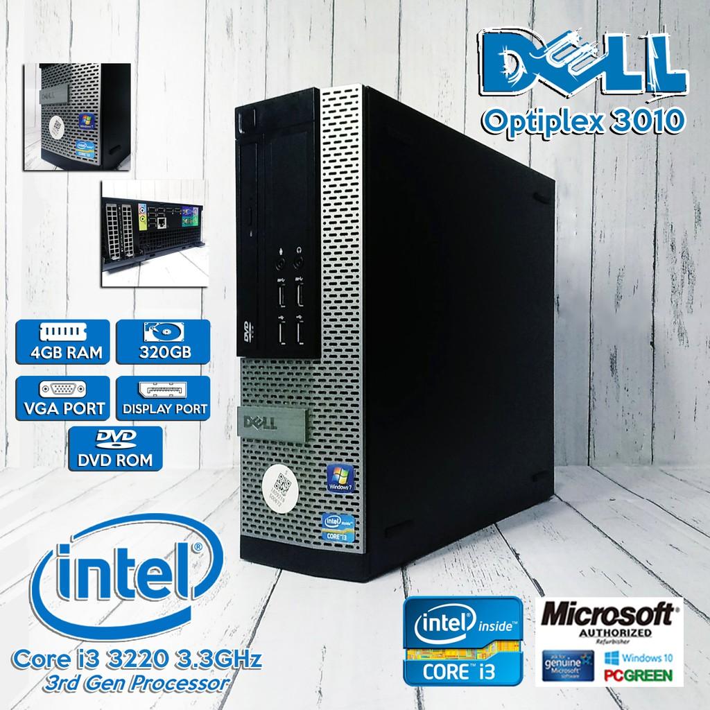 Dell Optiplex 3010 Intel Core i3-3220 3 3Ghz(i3-3rd gen) / 4