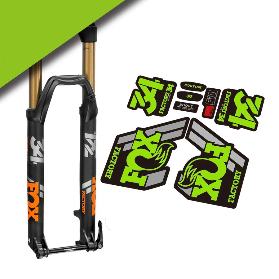 Suspension Factory Style Decal Kit Sticker Adhesive Set Red FOX 34 Forks