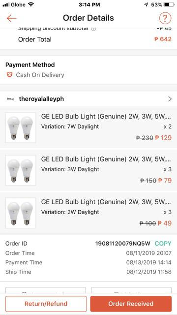 ⚡GE LED Bulb Light (Genuine) 2W, 3W, 5W, 7W 10W, 13W