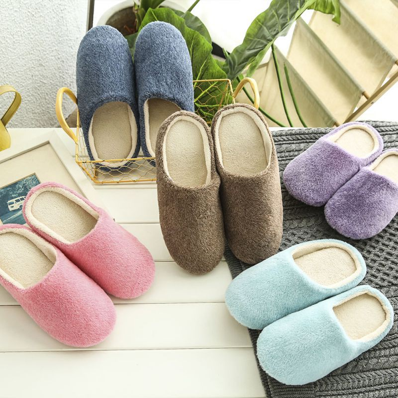 Couple Winter Pig Indoor House Slippers Anti-slip Home Warm | Shopee Philippines