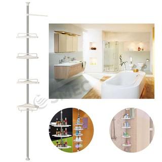 4 Tier Telescopic Bathroom Corner Shower Shelf Rack Caddy ...