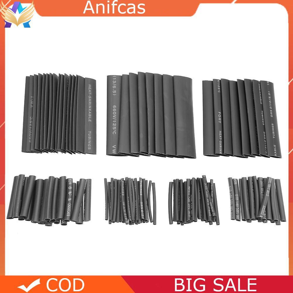 HEAT SHRINK PACK 20PCS ASSORTED SIZE Electrical Heatshrink 4 sizes Black Uk