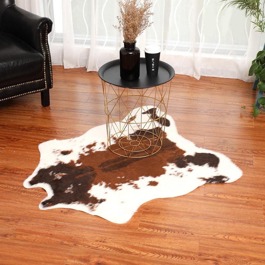 Simulation Cowhide Rug Cowskin Print Cow Hide Faux Carpet