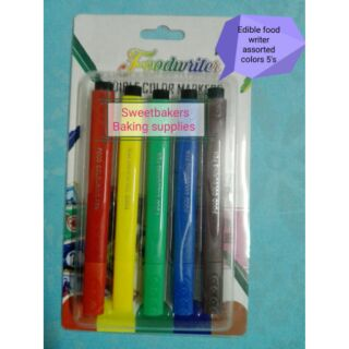 Edible food writer colored pen - baking