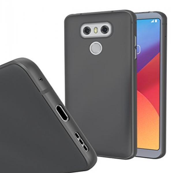 best website 40549 1b7a3 LG G6 MNML Thin Case (Clear Black)