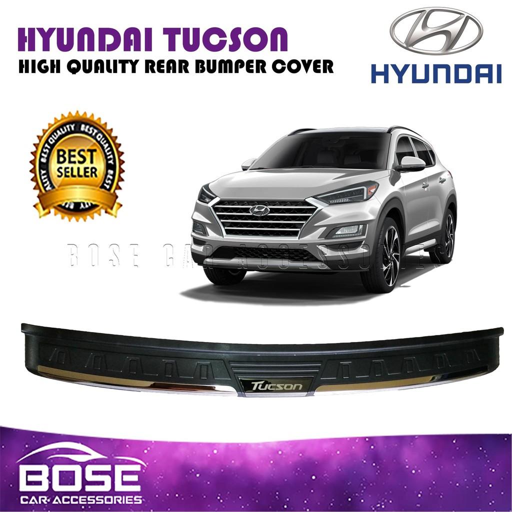 Hyundai Tucson 2019 2020 Rear Stepsill Rear Bumper Protector Scuffplate Car Accessories Shopee Philippines