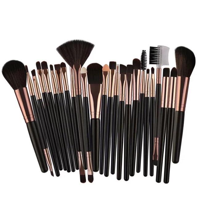 4335eb76abc6 25pcs Professional Make Up Brush Set