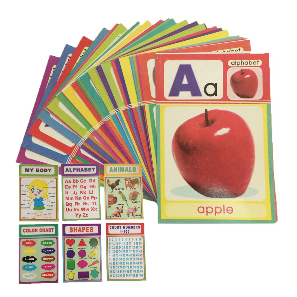 A Z Alphabet Letters Pocket Flash Cards For Kids 02st Shopee Philippines