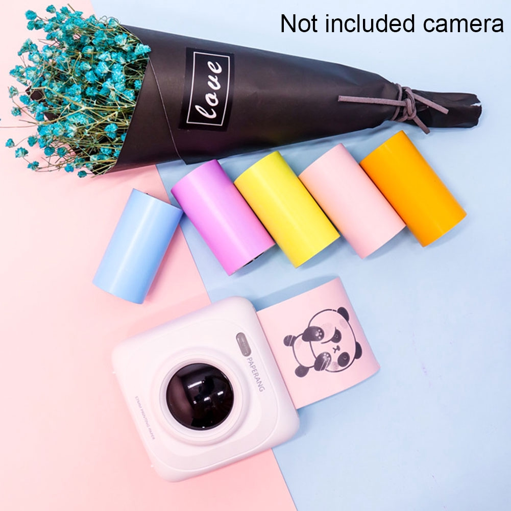 For Photo Printer Thermal Continuous Roll Portable Self Adhesive Office  Colorful Printing Paper