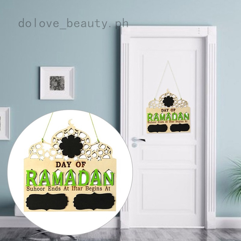 Islam Ramadan Arabic Countdown to EID Mubarak Advent Hang Message Board Nice