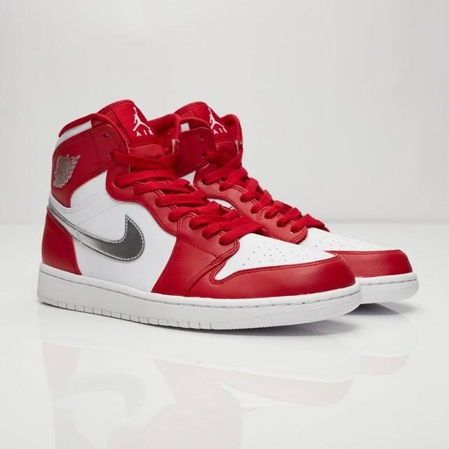 64c8dd30e2b663 Nike Air Jordan 1 Retro High Gym Red White Silver 332550 602 ...