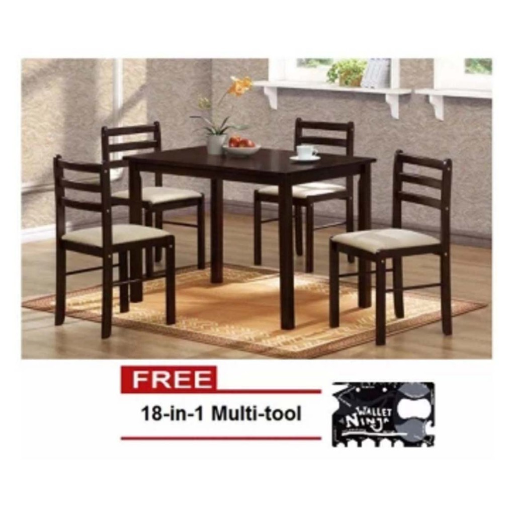 Starter Dining Table Set 4 Seater Shopee Philippines