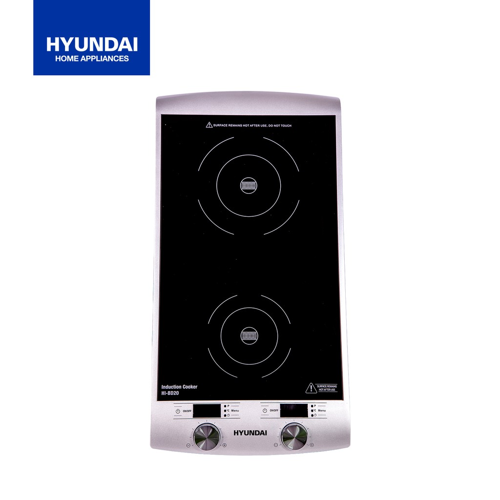 Silver Double Vertical Induction Cooker