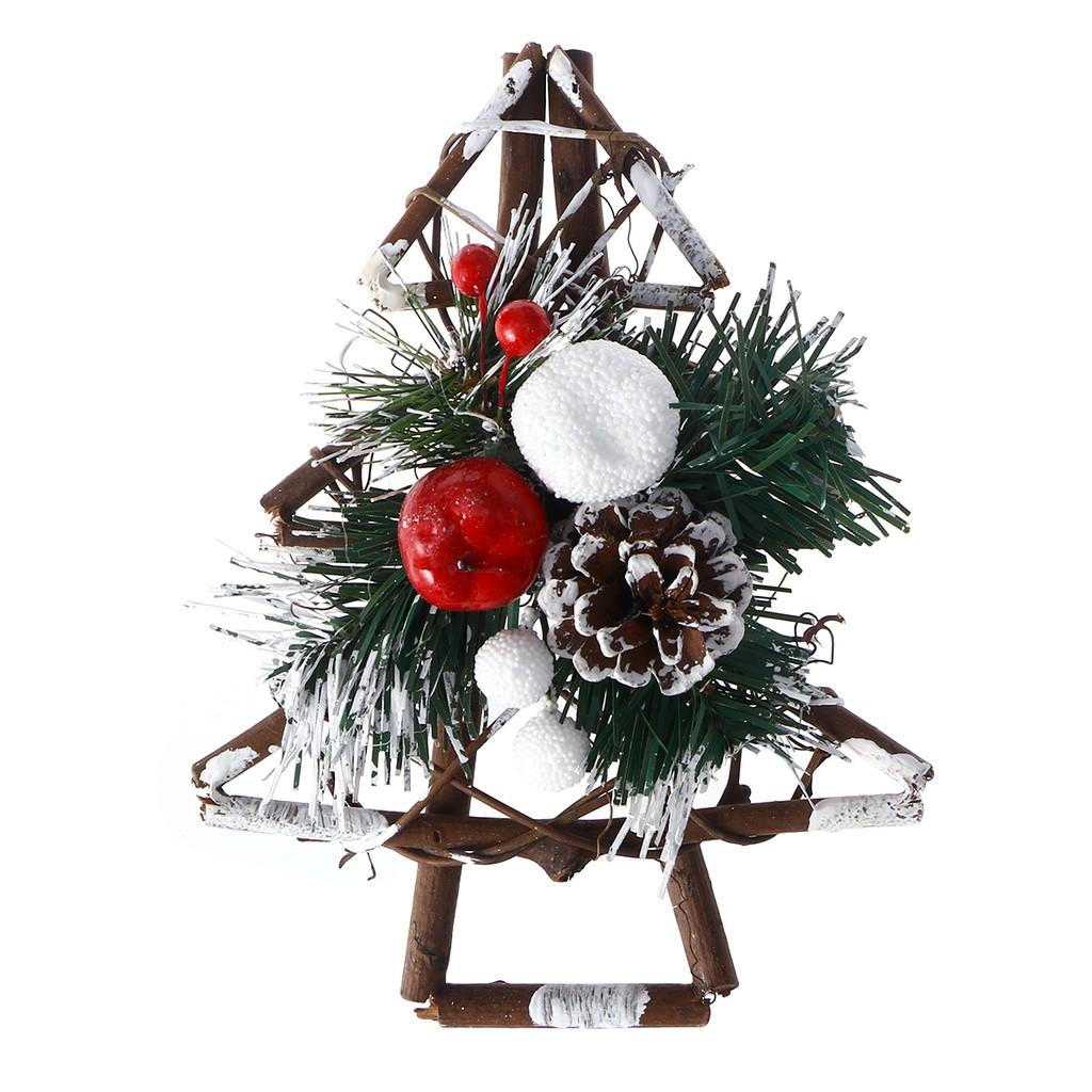 Amosfun Christmas Pine Wreath Garland Artificial Xmas Wreath For Home New Years Eve Christmas Party Decor Wall Door Window