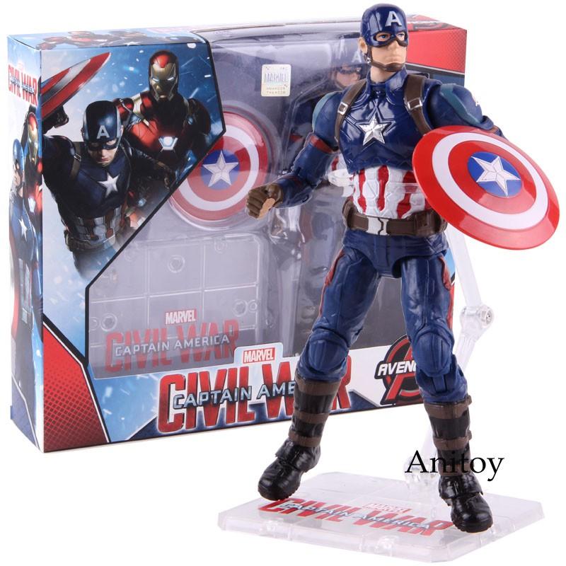 14pcs//Set Marvel Legends Captain America 3 Civil War Action Figure Model Toys