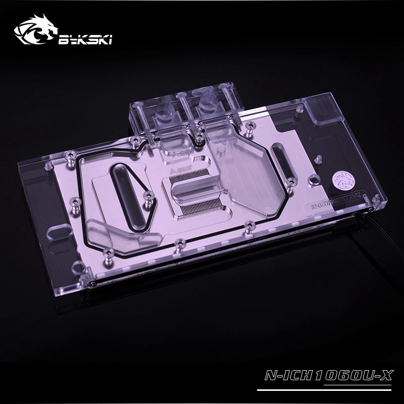 Clear N-ICH1060U-X Bykski Inno 3D iCHILL GTX 1060 Full Coverage GPU Water Block