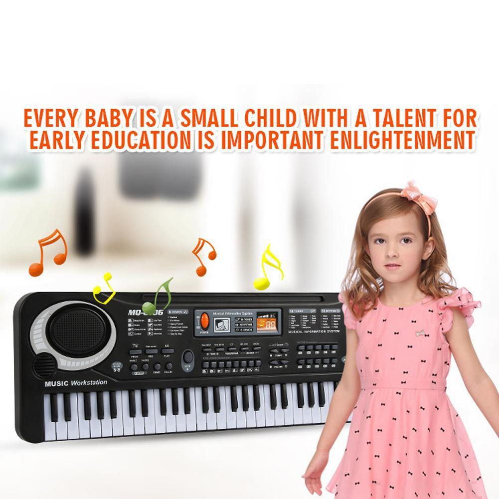 61 Keys LED Digital Electric Piano Music Keyboard Organ w// New Microphone