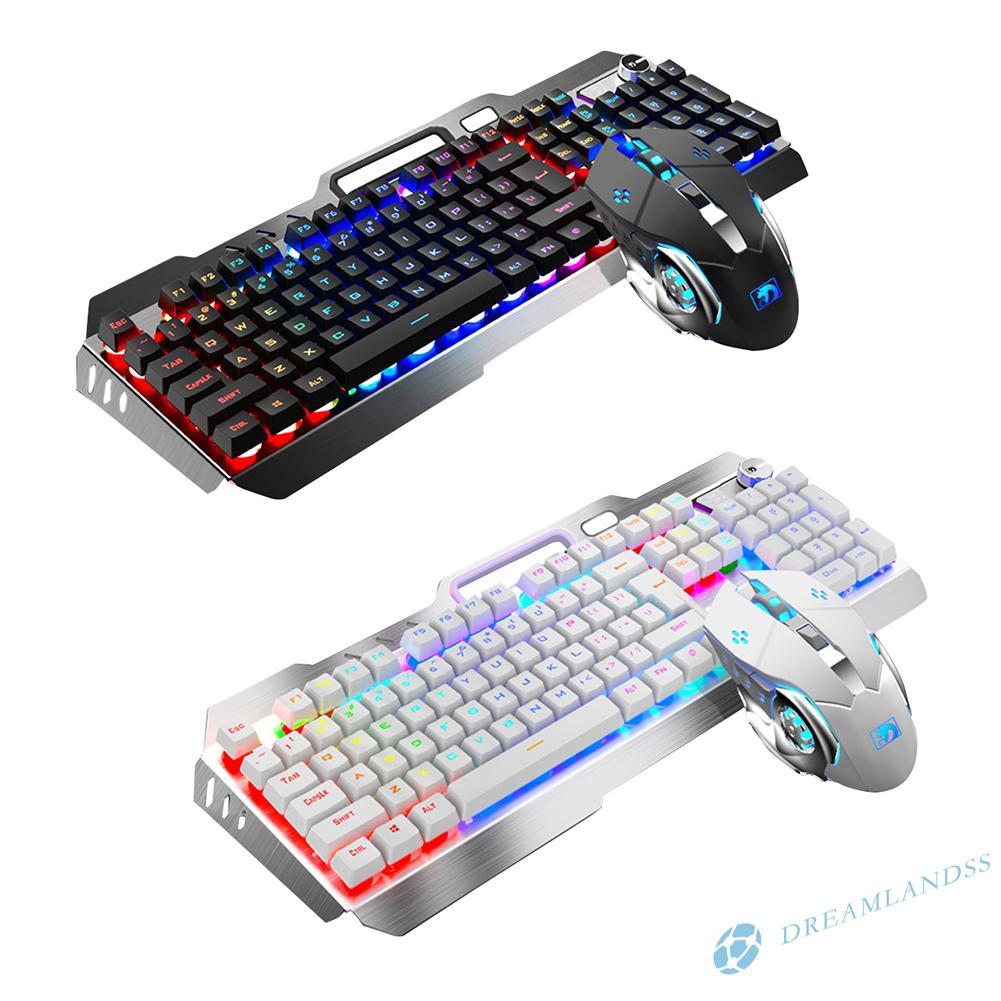 Easydeal V1 USB Wired Ergonomic Backlit Mechanical Feel Gaming Keyboard Mouse Set