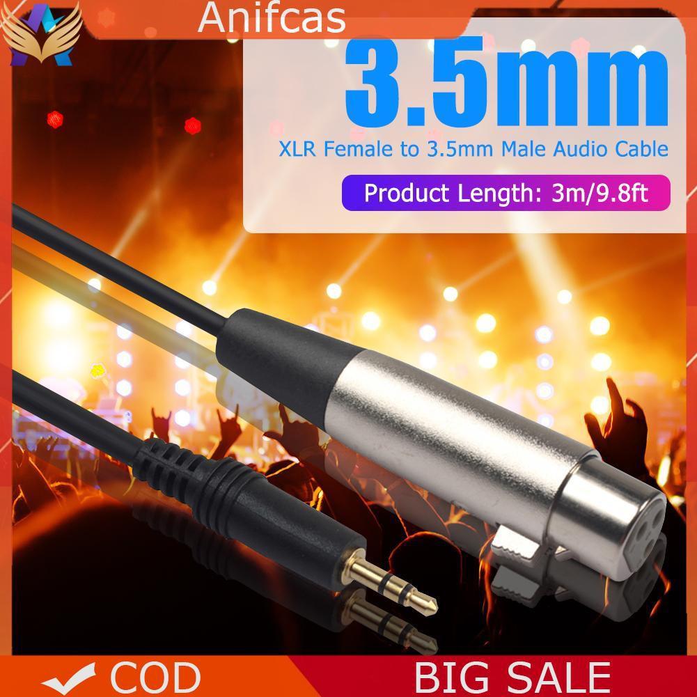 U3010cash On Delivery U30113 Pin Xlr Female To 3 5mm 1  8 Inch Trs