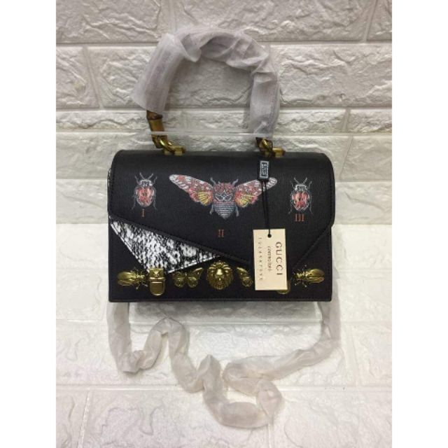 6a92406b87e558 Gucci Ottilia 488712 Embellished Leather Shoulder Bag | Shopee Philippines
