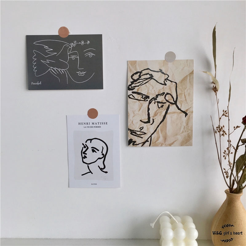 24h Delivery W G Wallpaper Simple Abstract Portrait Card Oil Painting Picasso Art Painting Wall Decoration Background Photo Three Piece Set Shopee Philippines