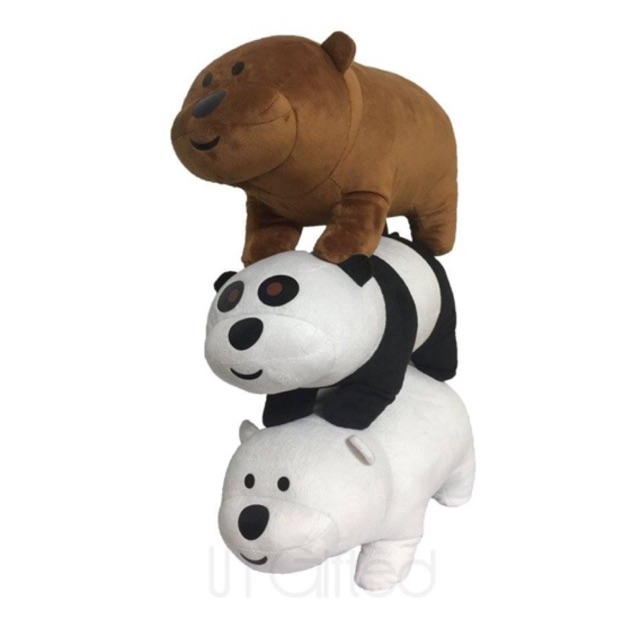 We Bare Bears Stuffed Toys Shopee Philippines