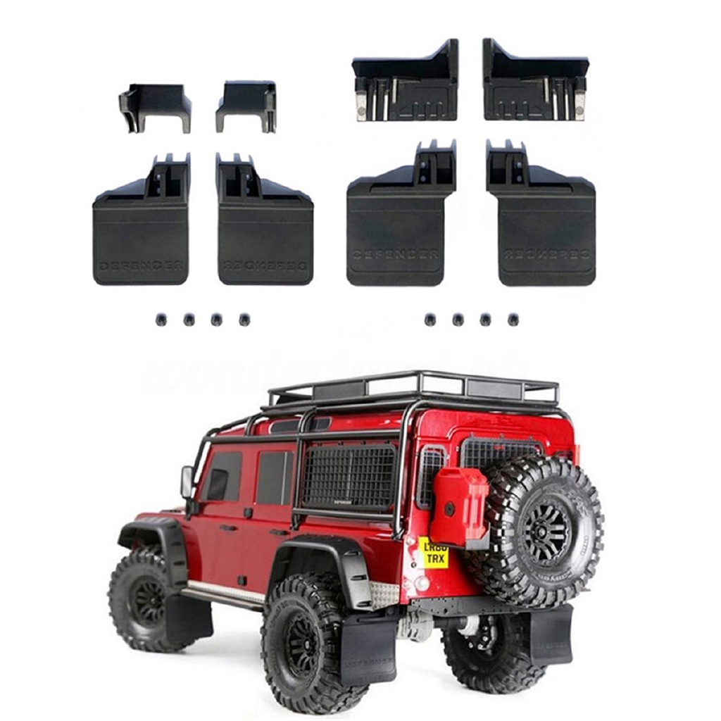 Set Front Rear Rubber Mud Flaps Guards Traxxas Crawler