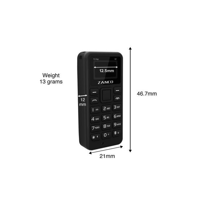 eab011536 Zanco Tiny T1 Smallest phone in the world | Shopee Philippines