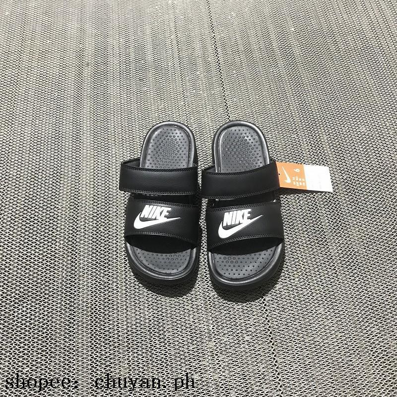 c6588397340f Nike Benassi Duo Ultra Slide Slipper black white sandals spo ...