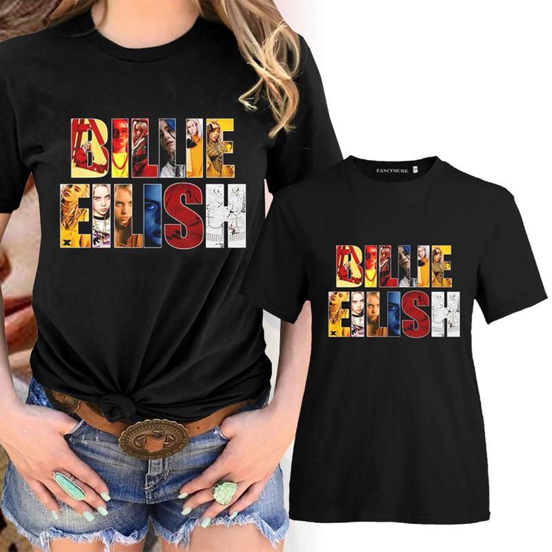 Billie Eilish Print Tshirt Women 90s Vintage Black T Shirt Female Short Sleeve O Neck Tops Shopee Philippines