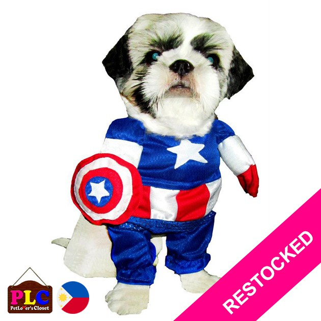Marvel Captain America Pet Dog Cat Costume Clothes Halloween Shopee Philippines Her cosmic powers and leadership are needed more than ever as the universe's heroes risk it all. marvel captain america pet dog cat costume clothes halloween