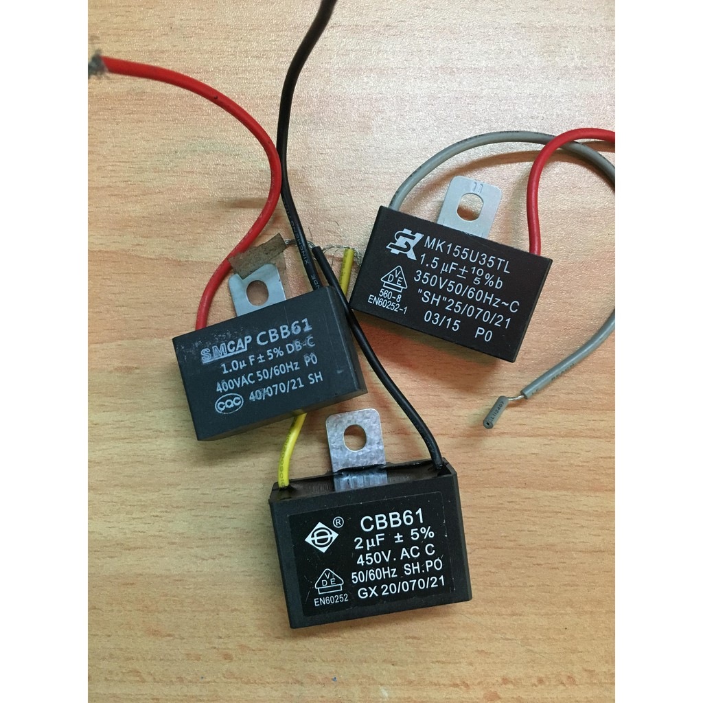 CEILING FAN CAPACITOR CBB61 1.5uf+1.5uf+2uf  5 WIRE