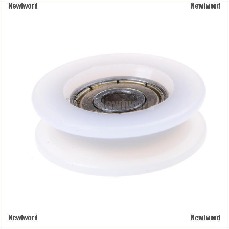 New 6*30*10mm U Groove Metal Shield Nylon Pulley Wheels Roller Ball Bearing NICE