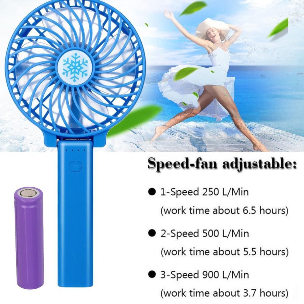 7-Leaf Mini Portable Brushless Handheld Desk Fan Cooler Cooling USB Rechargeable