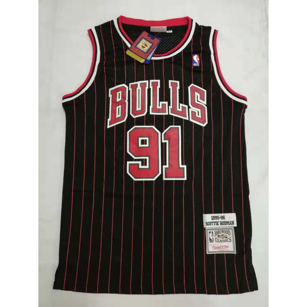 wholesale dealer 0db74 5c47c NBA Chicago Bulls 91 Dennis Rodman Basketball Jersey