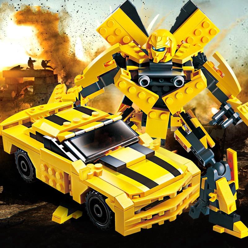 Transformers Robot Bumblebee Car Building Block Brick Toy Children Boy Gift