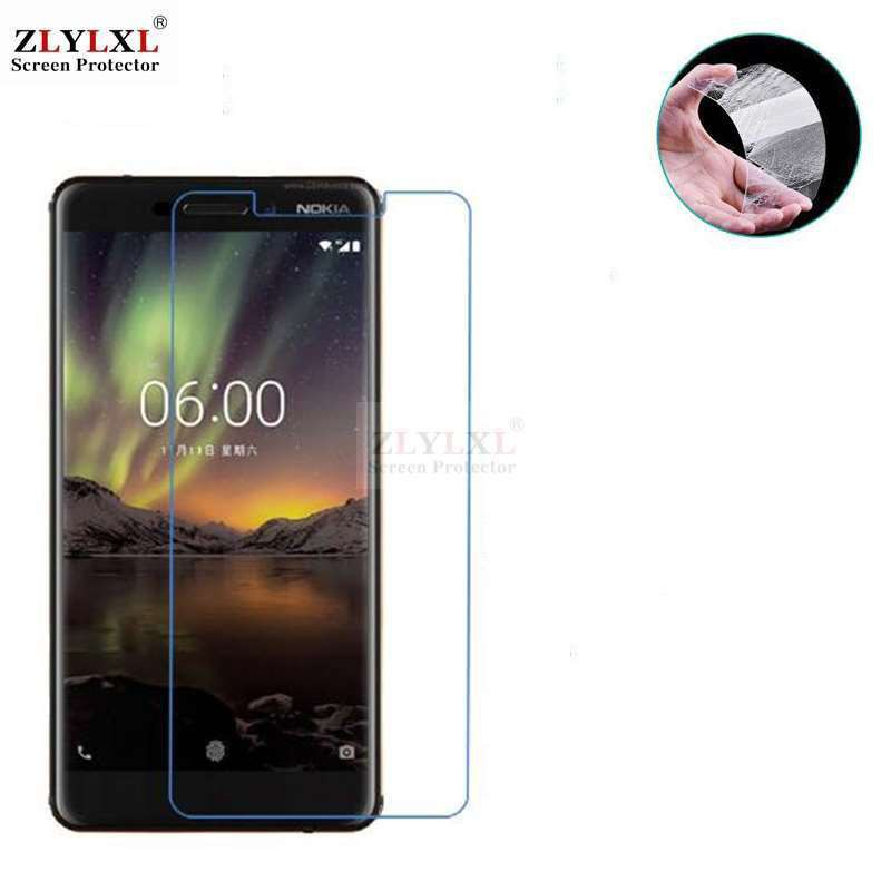 2Glass+ 1case soft case tempered glass screen protector Nokia 6 1