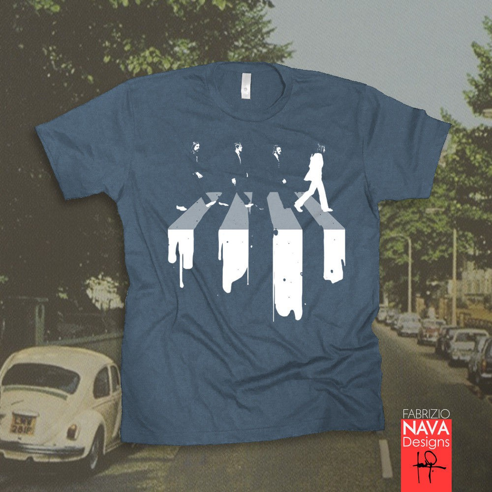 THE Beatles Abbey Road T-shirt Rock Band Women/'s Tee