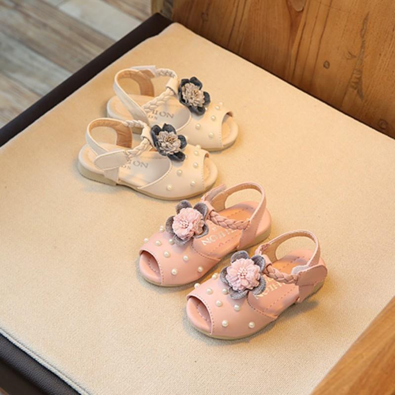 9c8a3b4758891 BabyL Flower Sandals Baby Shoes Sandals Sandy Beach Comfort Girls Sandals