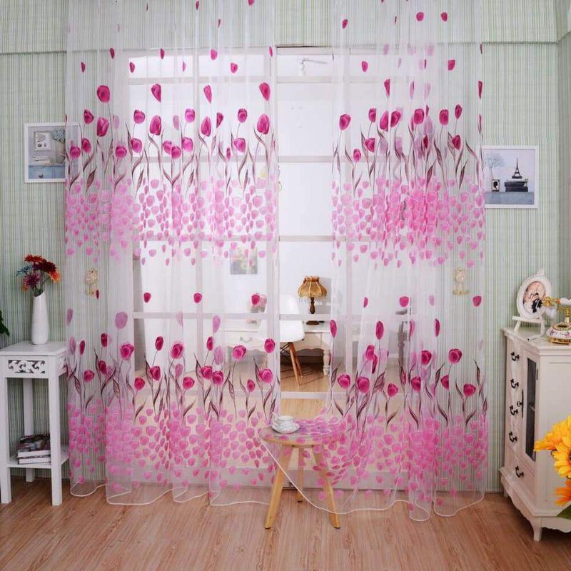 tulip flower door window curtains p199